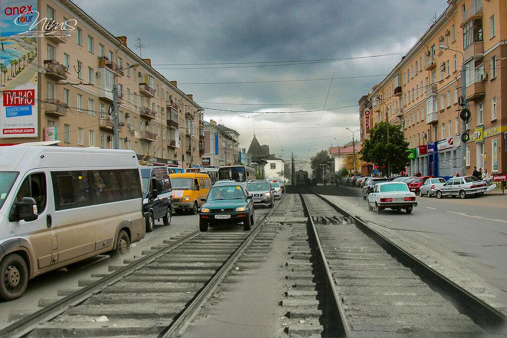 Трамвайные пути ул. Маркса 2016.jpg
