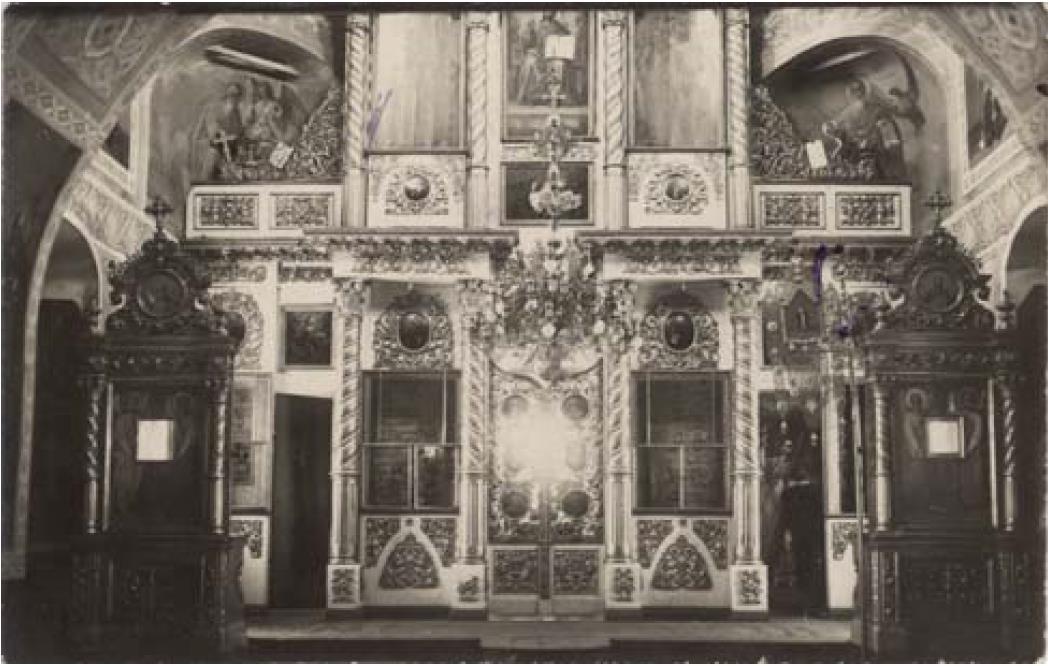 Ильинская церковь 1773 г. Иконостас холодной Ильинской церкви (верхний этаж)