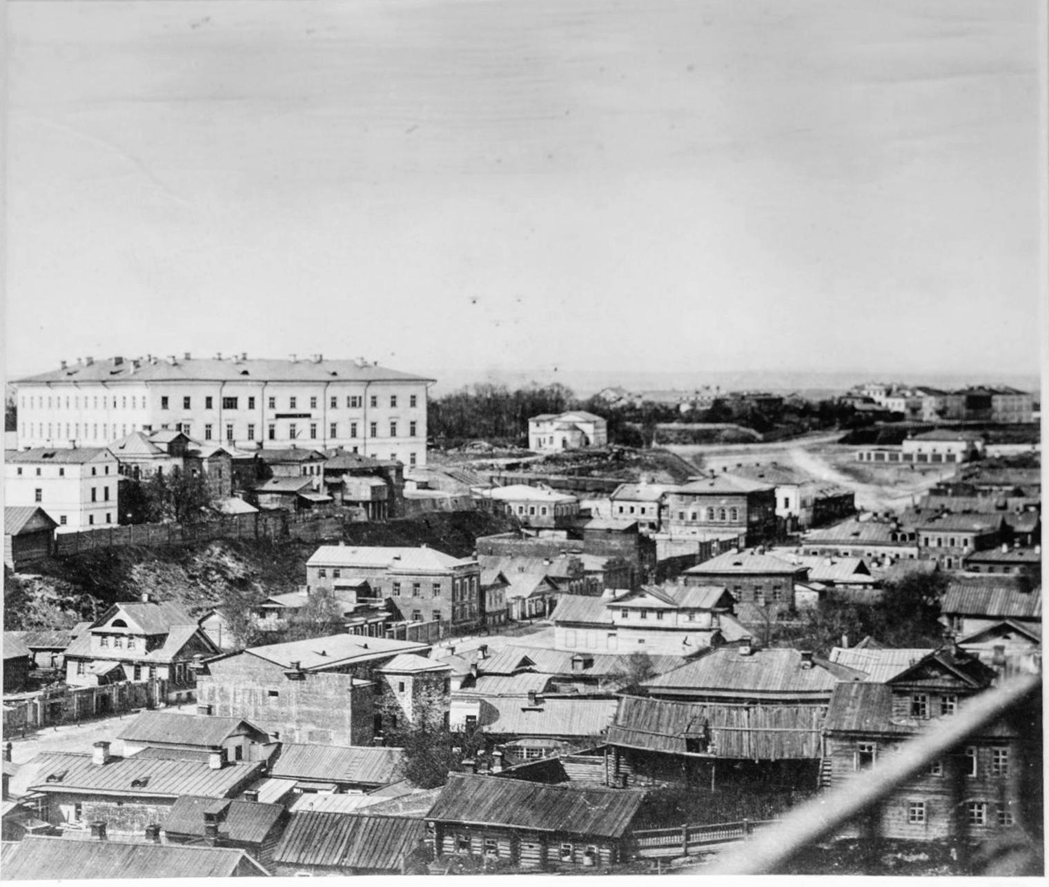 1870. Вид на Университетскую клинику, ул. Рыбнорядскую, район Марусовки с каланчи 4-й полицейской части