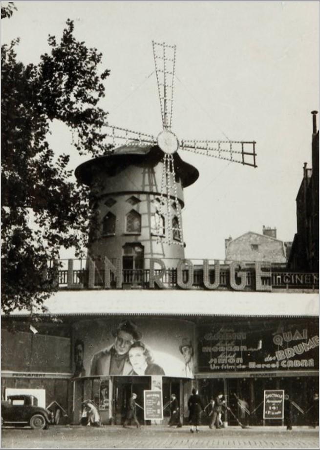 1938. Показ Набережной туманов. Мулен Руж, Париж