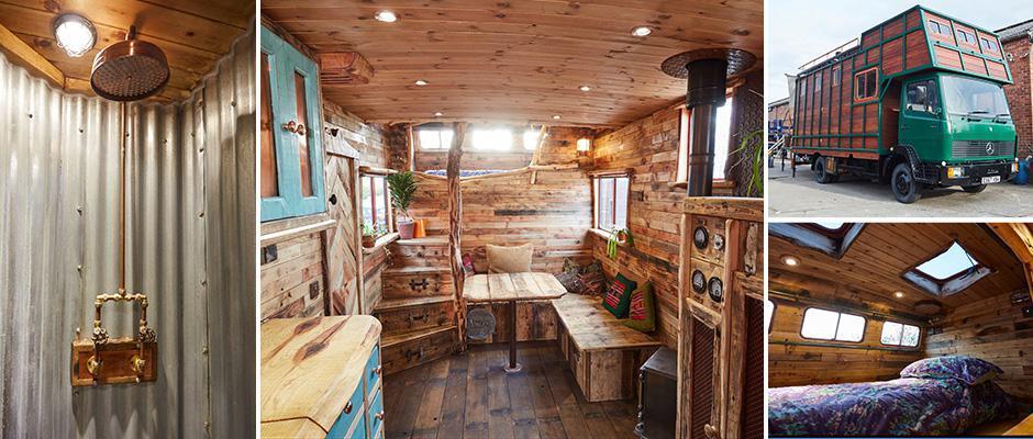 Мастер переделывает старые фургоны для перевозки скота в замечательные дома на колесах