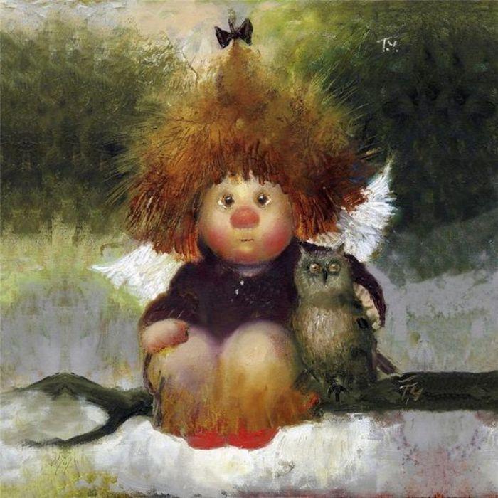 Рыжие ангелочки / художник Галина Чувиляева