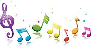 С днем музыки. Разноцветные нотки