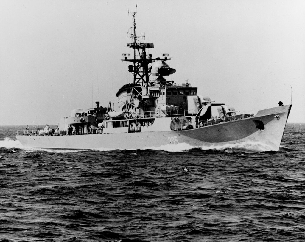 Soviet Baltic Fleet RIGA class ocean escort, photographed during mid-1961 in the Baltic.