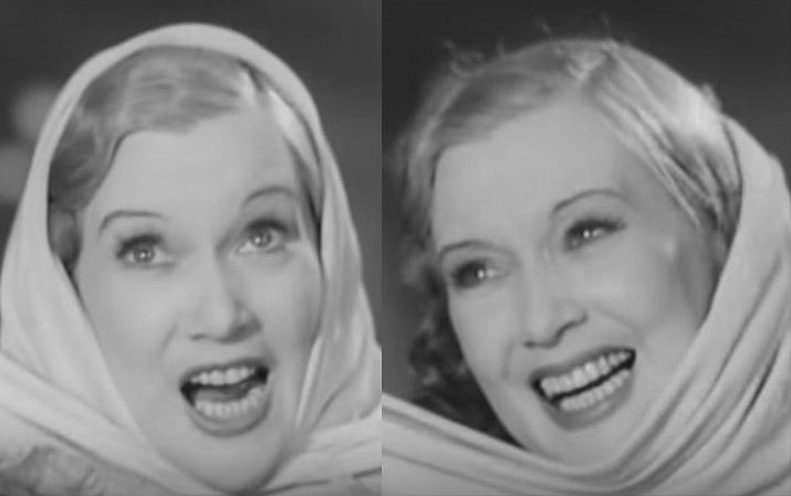 Говорят, Григорий Александров уговорил жену заменить натуральные зубы на красивые фарфоровые. Похоже