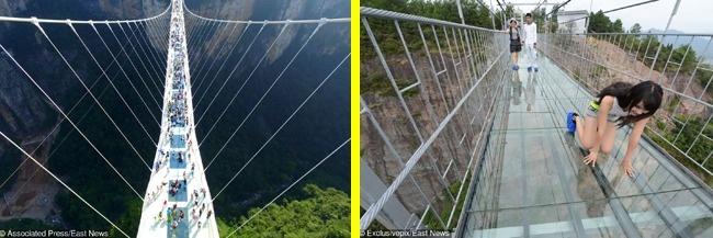 © eastnews  Для кого: Для покорителей невероятных высот Мост вкитайской провинции Хунань, по