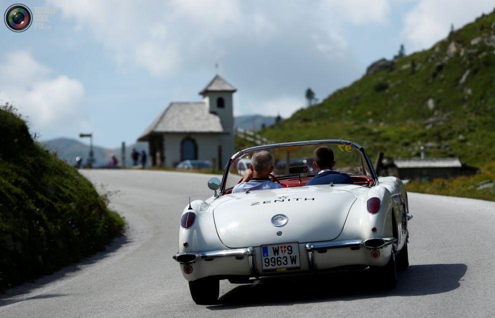 Ралли классических автомобилей Ennstal-Classic в живописных австрийских Альпах