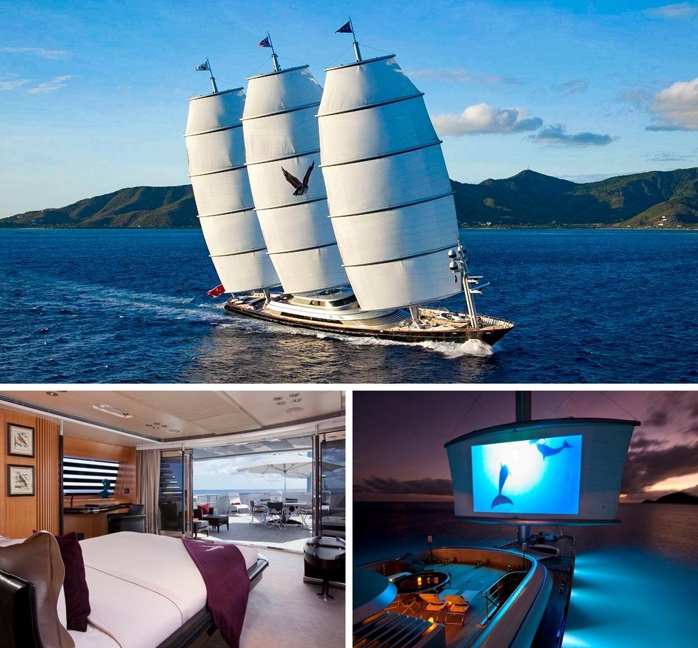 © yacht charter fleet  Скоростная яхта «Мальтийский сокол» (Maltese Falcon), похожая напиратс