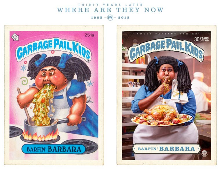 Garbage Pail Kids - Two creatives recreated the cult and trashy cards