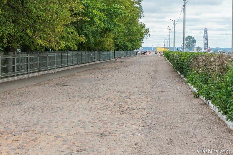 Дорога вдоль Петровского парка, Кронштадт
