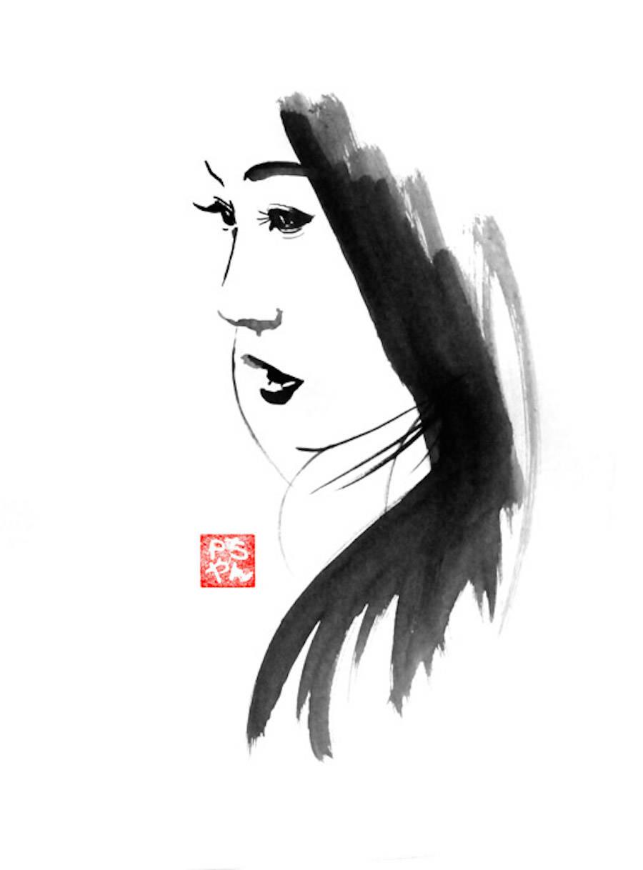 Superb Sumi-e Technique Paintings by Pechane