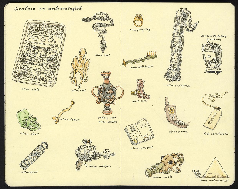The Creative Moleskine Sketchbook of Mattias Adolfsson