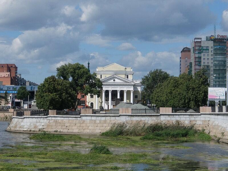 Челябинск - Вид с реки Миасс