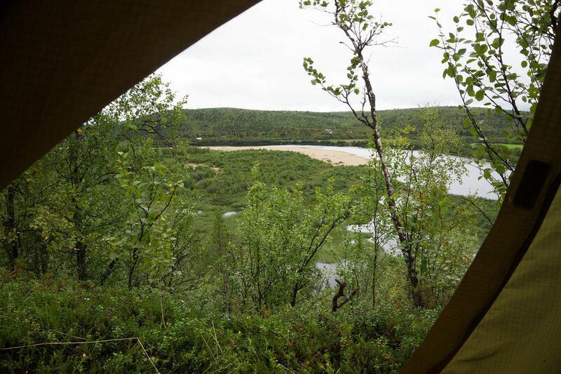 вид из палатки cetus 3 на реку