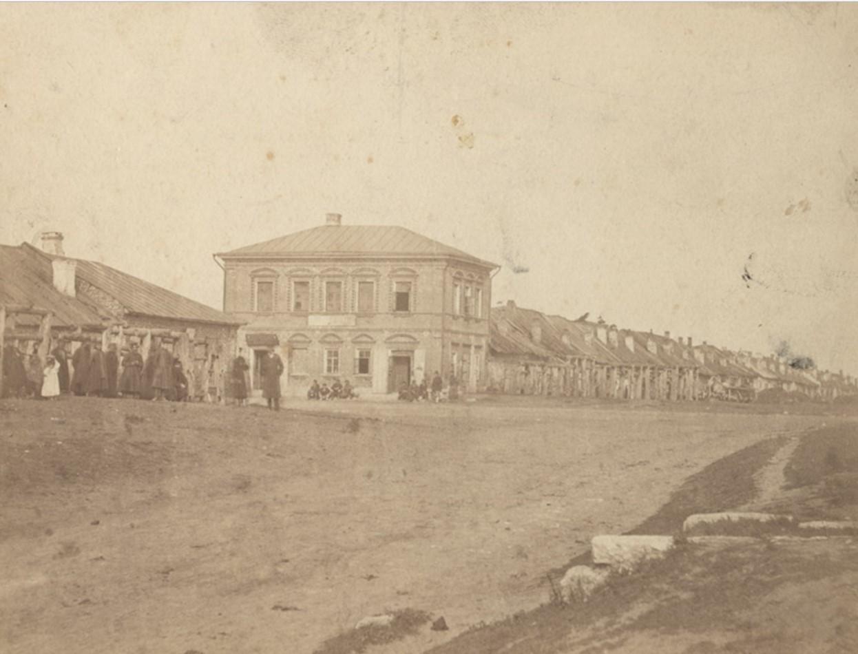 Кузницы и лавки купца Попова (на границе Ямской и Новой слободы) 1900-е