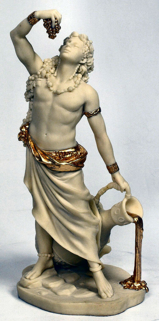 an analysis of the god of the vine dionysus The ancient greeks attributed to dionysus the introduction of vine cultivation and winemaking what is noted, however, is that there are many places in greece which claim the honor of being the first to produce wines.