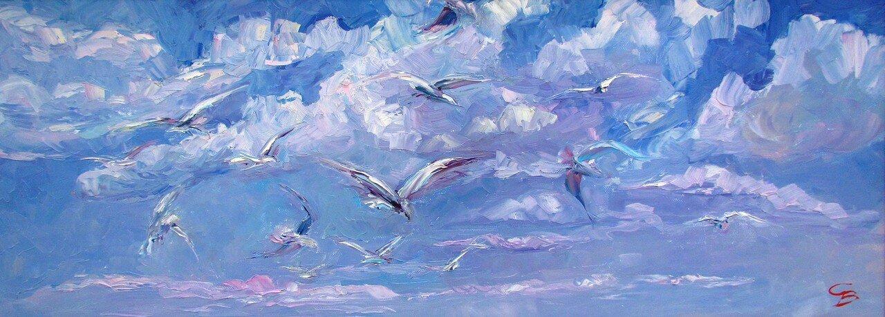 с.воронов.чайки над волнами.jpg