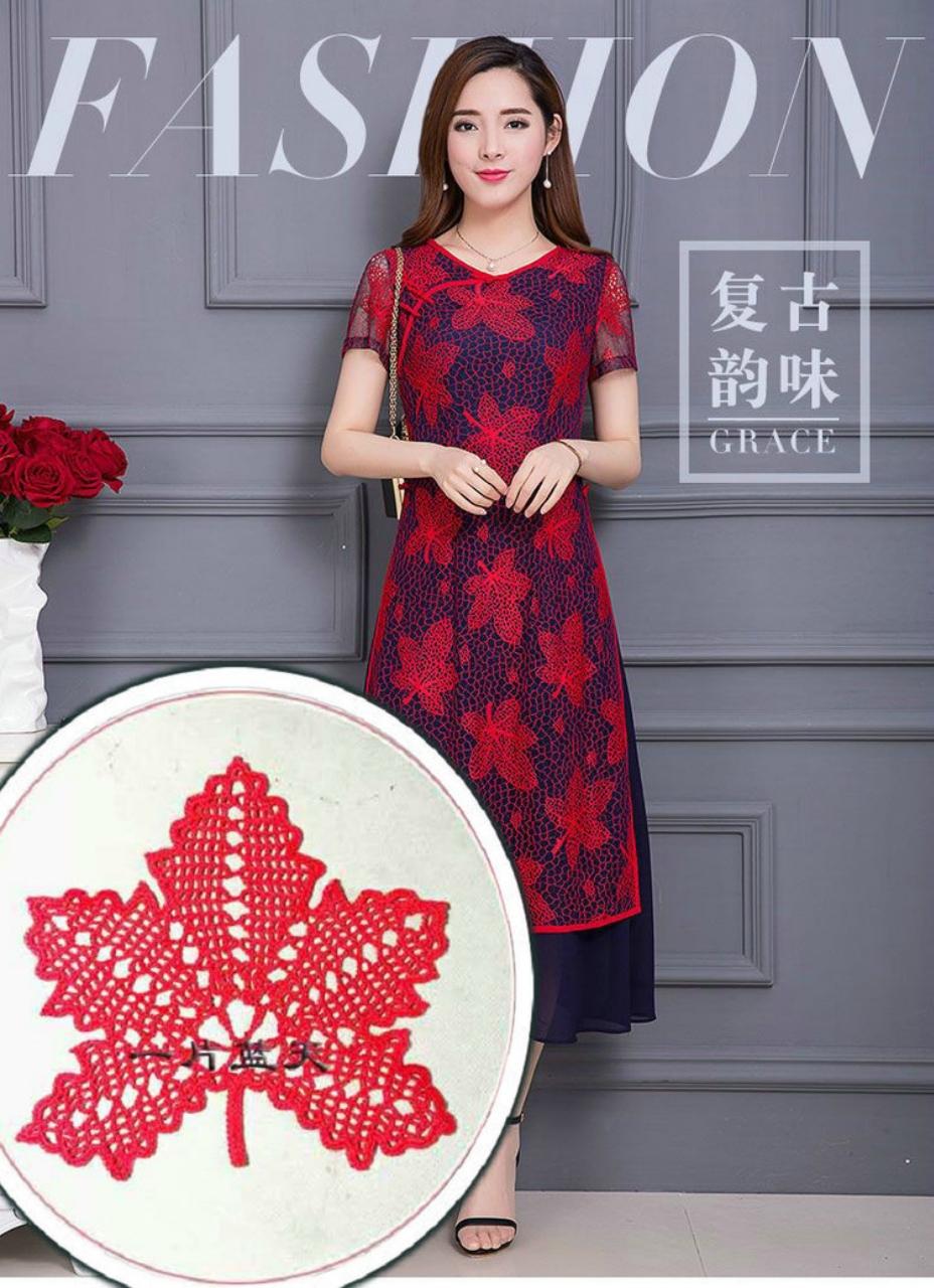 一片蓝天整理的枫叶旗袍 - 柳芯飘雪 - 柳芯飘雪的博客