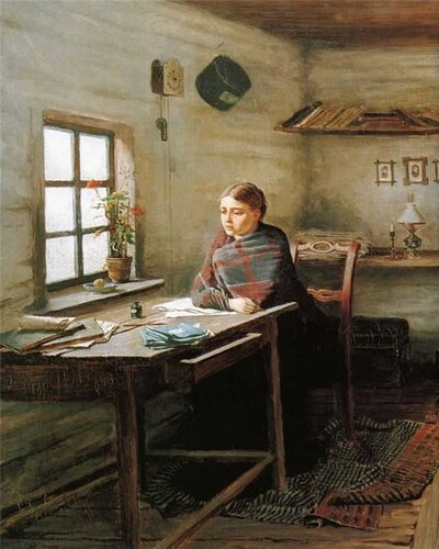 Константин Трутовский Сельская учительница. 1883