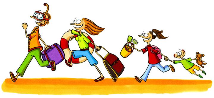 Всемирный день туризма. Семья бежит на поезд