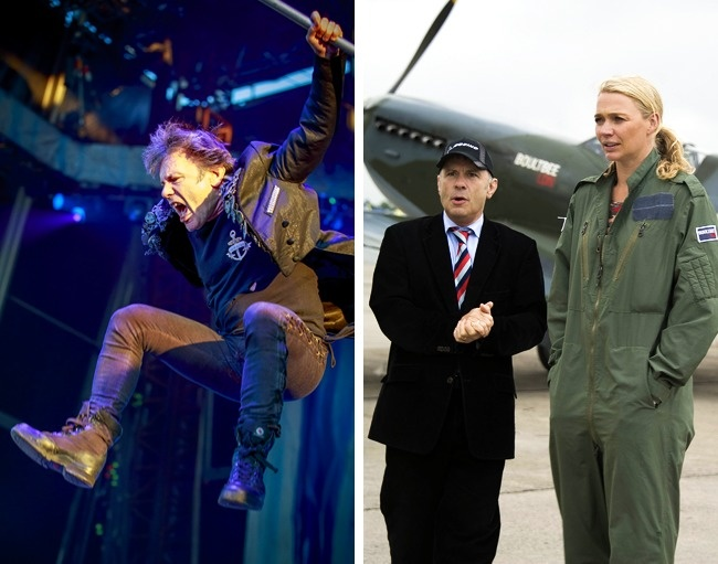 © REX  © eastnews  Брюс Дикинсон, фронтмен группы Iron Maiden, получил лицензию пилота в
