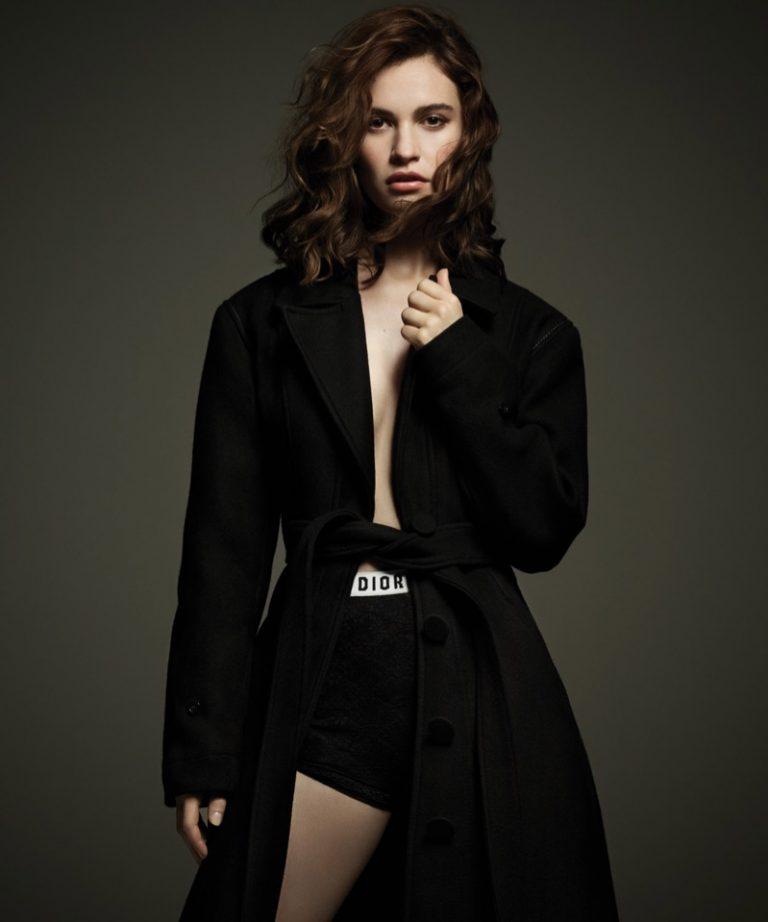 Лили Джеймс в DuJour Magazine