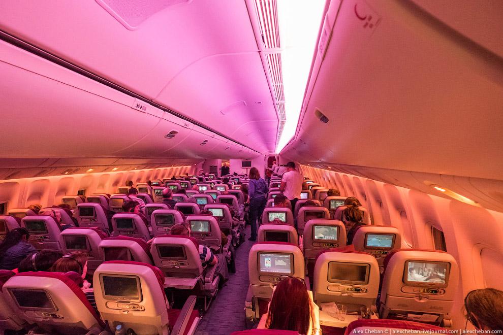13. А это 3-4-3 на Боинге 777-300ER , у той же Qatar Airways.
