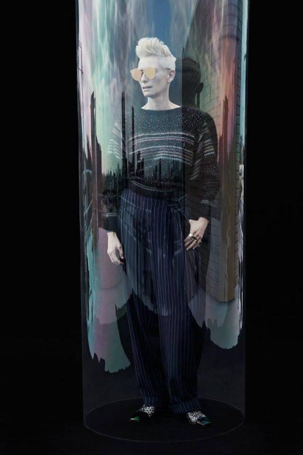 Тильда Суинтон для корейского Vogue