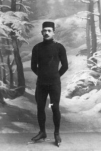Н.В.Струнников, чемпион мира по бегу на коньках (портрет)