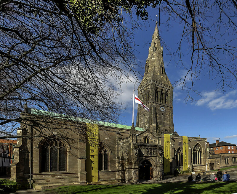 Exterior of Leicester Cathedral