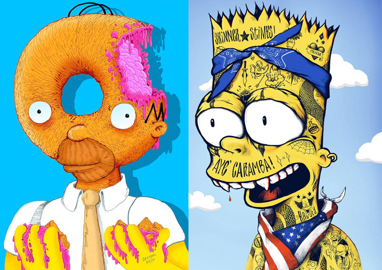 Bootleg Bart – An awesome mashup series between Simpsons and pop culture (22 pics)