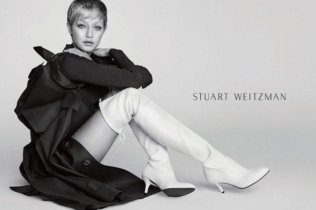 Stuart Weitzman Fall Winter 2017.18 Starring Gigi Hadid (2 pics)