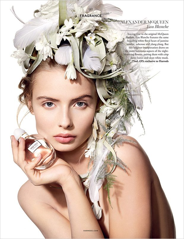 Margaux Alexandra in Crowning Glories for Harrods Magazine