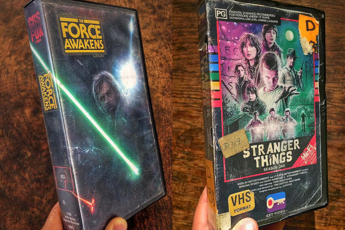 Modern movies and series as VHS tapes (27 pics)