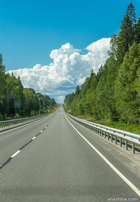 Живописная дорога, Трасса А-119, Карелия