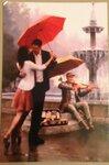 Люди с зонтиками (собираю только рисованные!!)