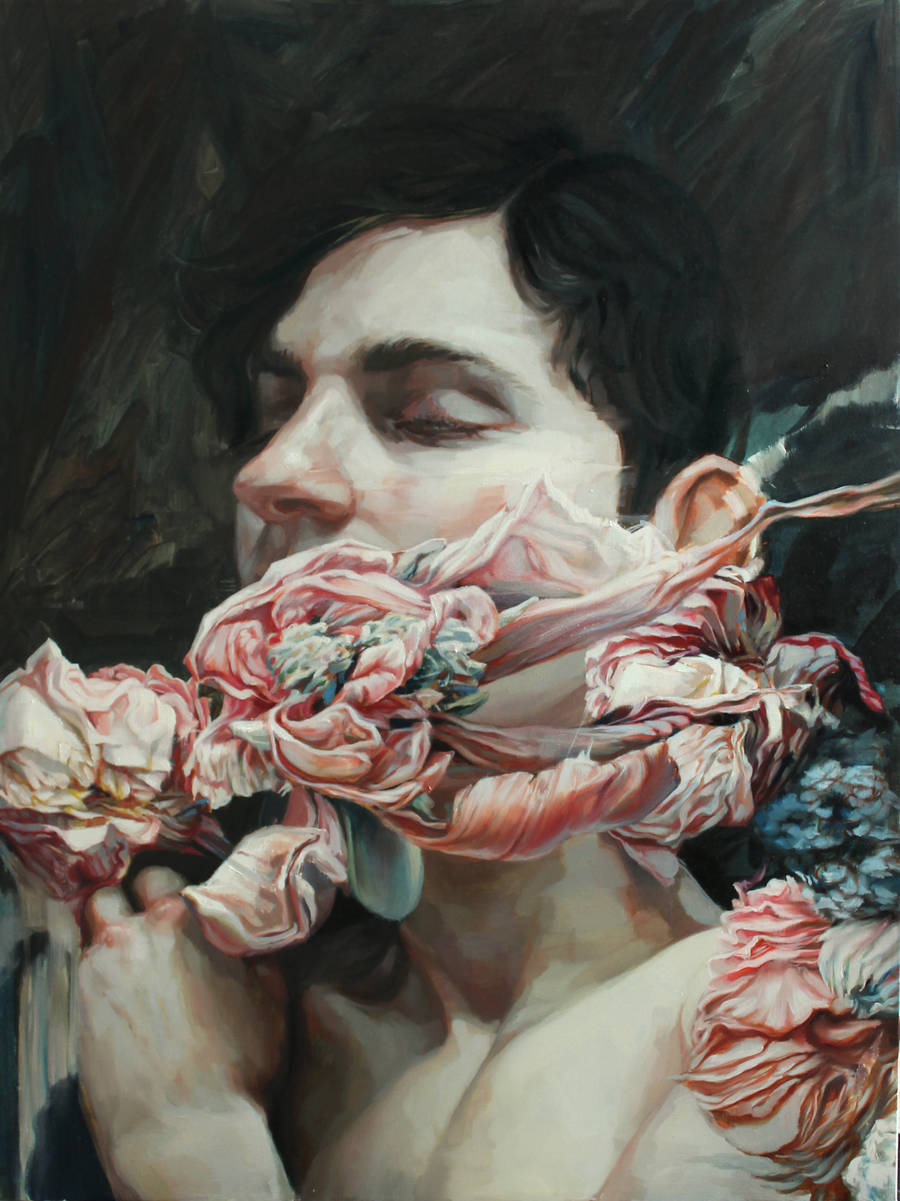 Enigmatic Portraits of Bodies Wrapped in Flowers