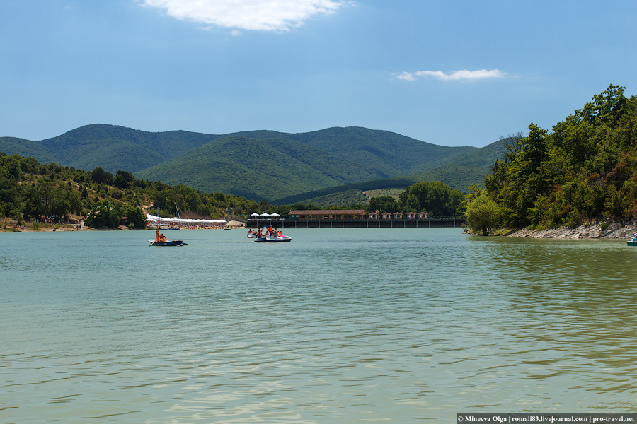 Озеро, в котором растут кипарисы