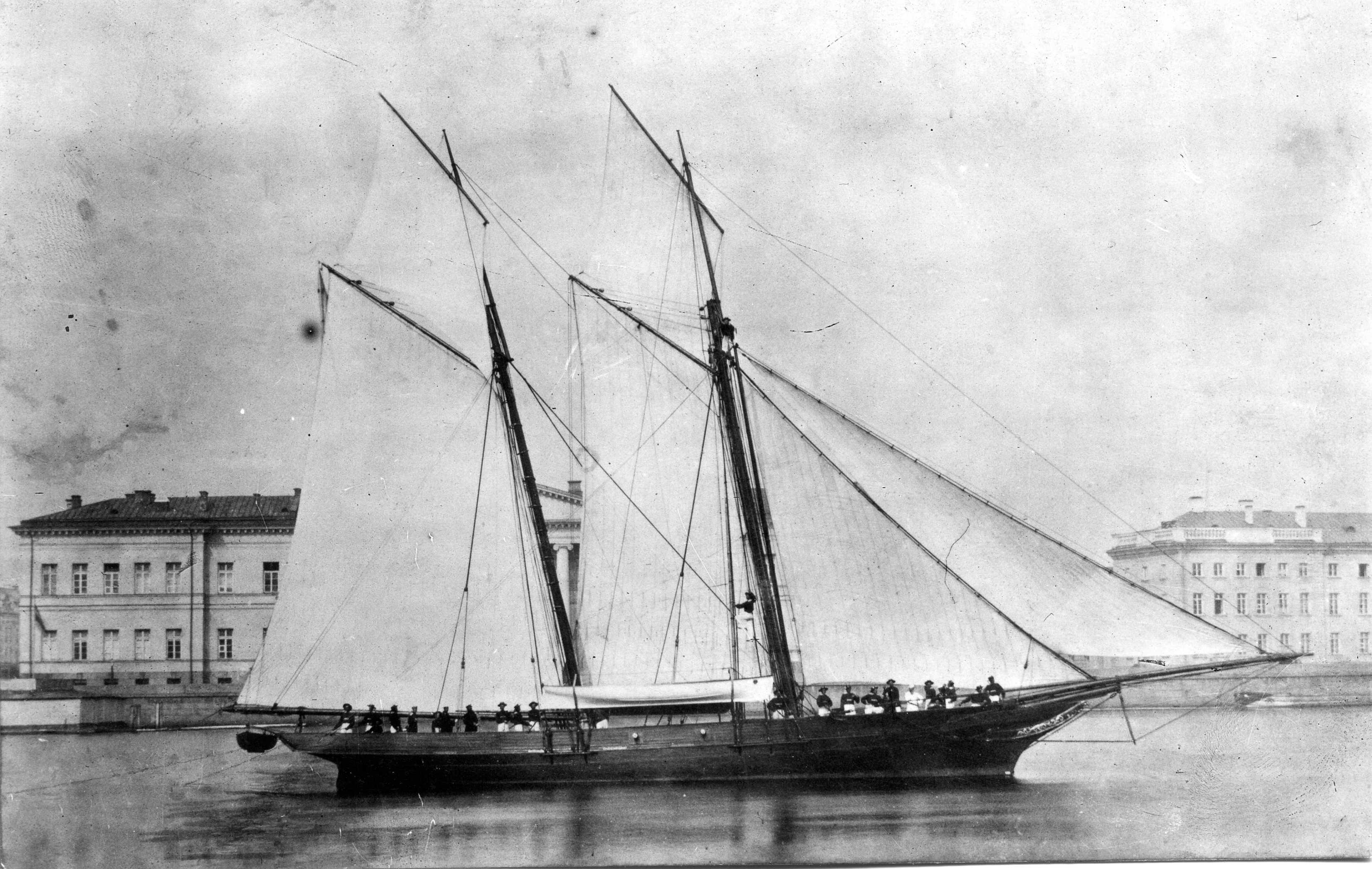 1856. Яхта Никса цесаревича Николая Александровича