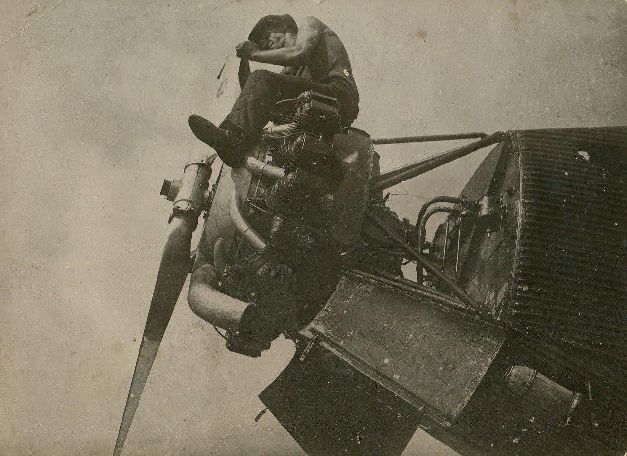 1935. Чистка мотора