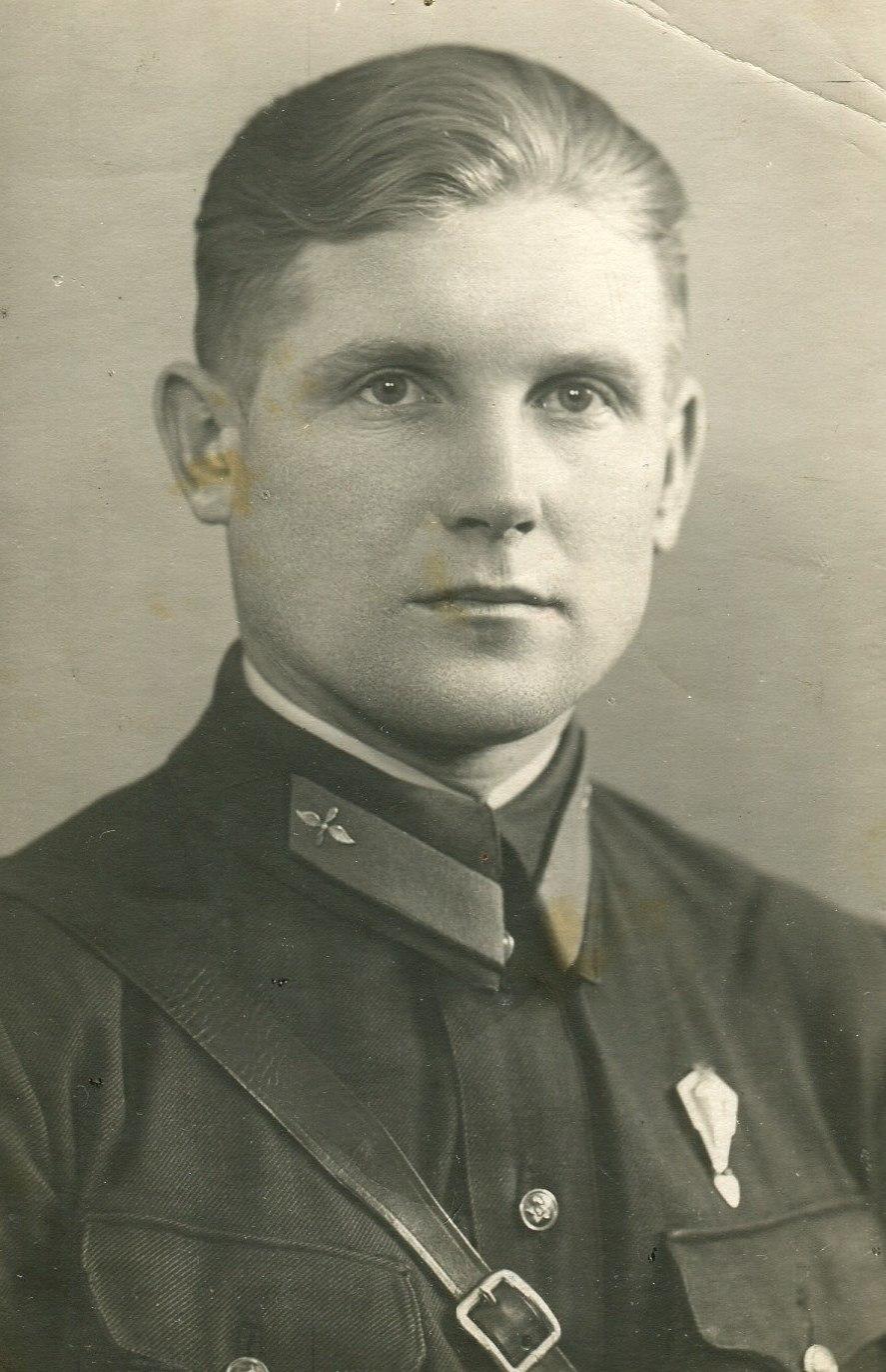 1939. А.Д. Смирнов - инструктор-летчик аэроклуба. г. Калинина