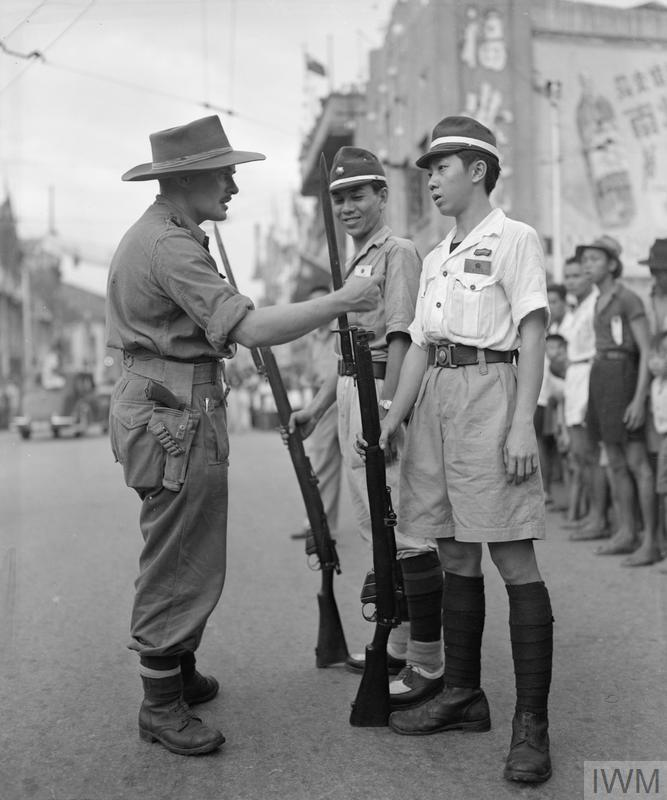 BRITISH REOCCUPATION OF SINGAPORE, 1945
