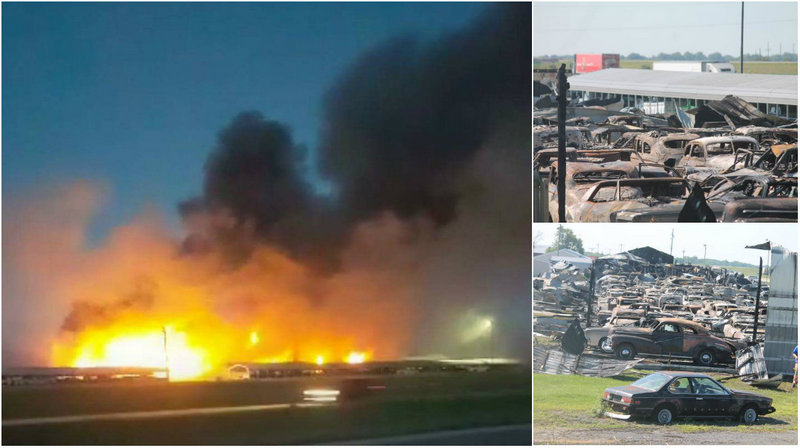 150 ретромобилей сгорело в Иллинойсе
