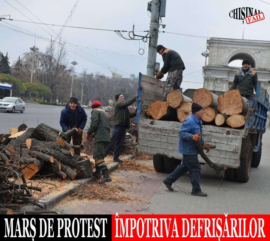 Марш протеста против вырубки лесов прошел в центре столицы