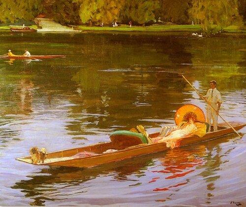 John Lavery 1856 — 1941  Катание на лодках по Темзе