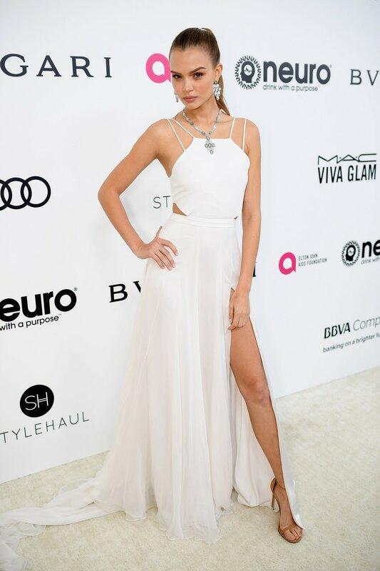 Жозефин Скривер на вечере Elton John AIDS Foundation Academy Awards в Лос-Анджелесе