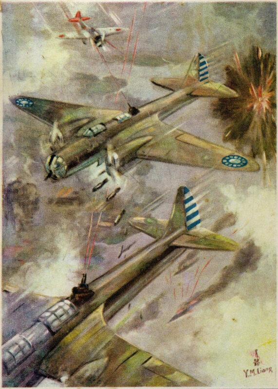 18. Bombing Japanese warships