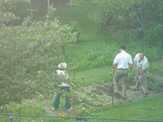 А этой даже удалось заставить мормонов копать ей огород.
