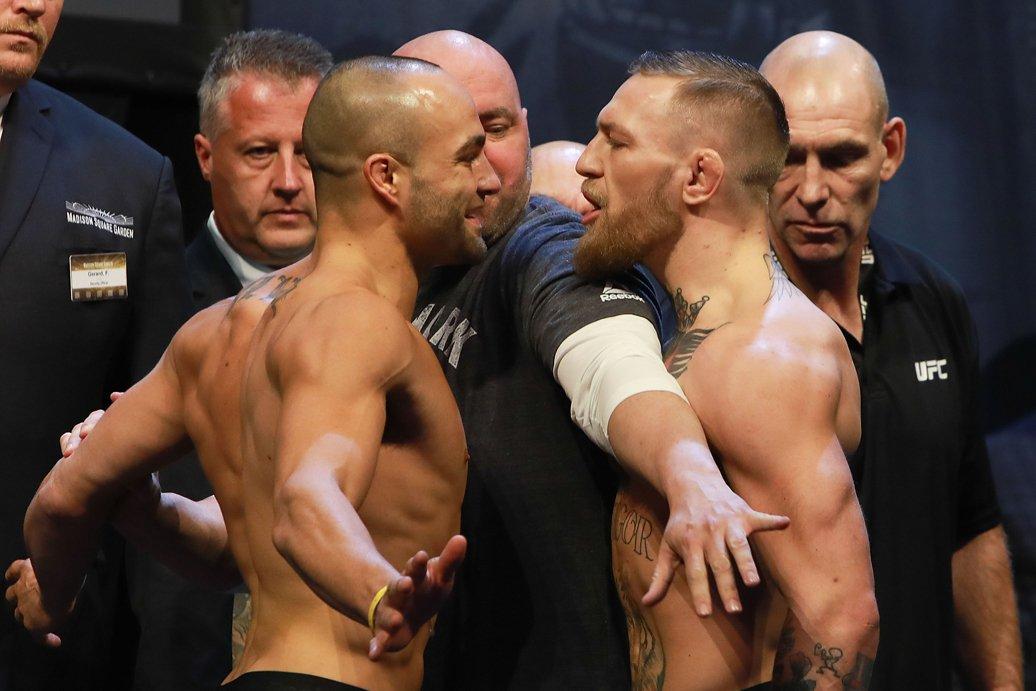 Три месяца спустя Макгрегор вызвал Эдди Альвареса на бой за титул чемпиона UFC в легком весе. Перед