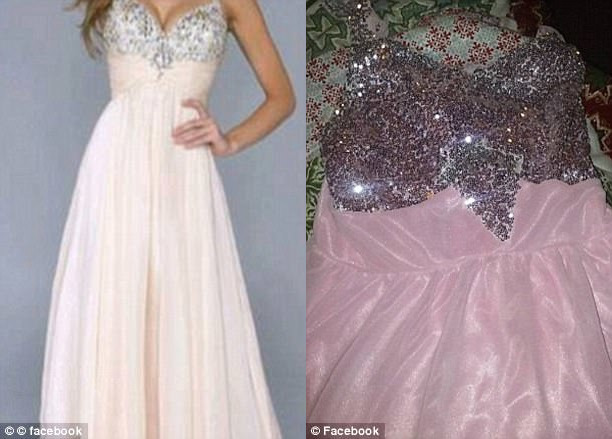 В фотографии справа с трудом можно узнать предмет одежды, но это явно не то же платье, что изображен